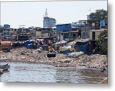 Slum In Colaba Metal Print