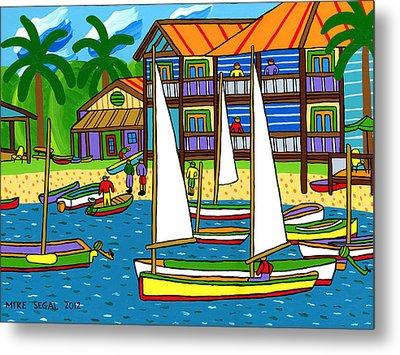 Small Boat Regatta - Cedar Key Metal Print