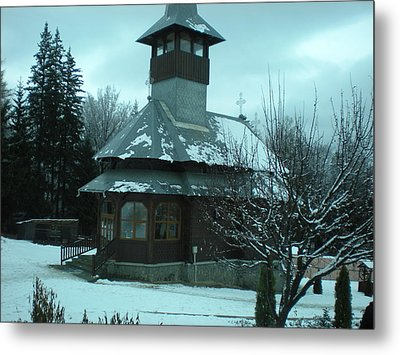 Small Church Romania Metal Print by Andreea Alecu