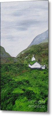 Metal Print featuring the painting Small Church by Susanne Baumann