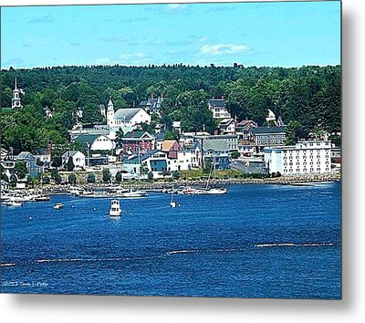 Small Coastal Town America Metal Print by Tara Potts