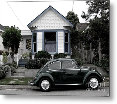 Metal Print featuring the photograph Small House With A Bug by James B Toy