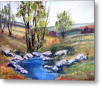 Metal Print featuring the painting Small Pond by Dorothy Maier