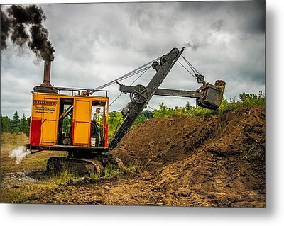 Small Steam Shovel Metal Print