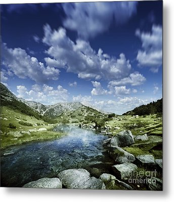 Small Stream In The Mountains Of Pirin Metal Print by Evgeny Kuklev