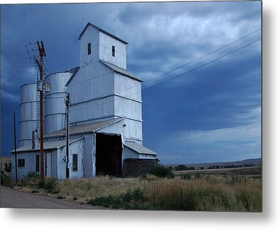 Metal Print featuring the photograph Small Town Hot Night Big Storm by Cathy Anderson