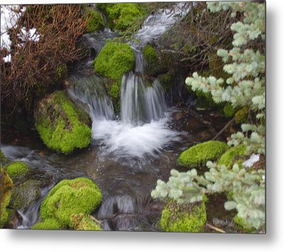Small Waterfalls Metal Print by Yvette Pichette