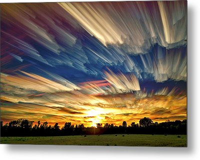 Smeared Sky Sunset Metal Print