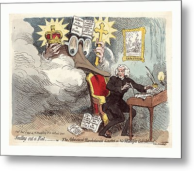 Smelling Out A Rat Or The Atheistical-revolutionist Metal Print by French School