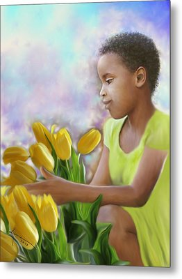 Smile 3 Metal Print by Kume Bryant