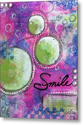 Metal Print featuring the painting Smile by Melissa Sherbon