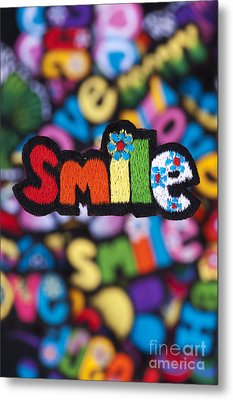 Smile Metal Print by Tim Gainey