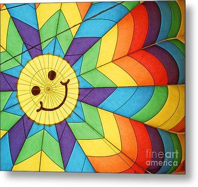 Smiley Face Balloon Metal Print