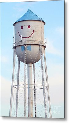 Smiley The Water Tower Metal Print by Steve Augustin