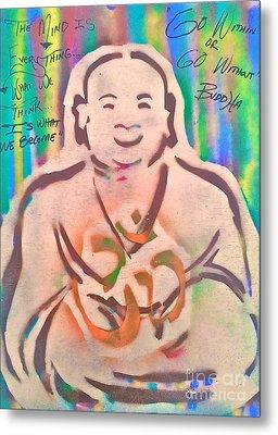 Smiling Brown Buddha  Metal Print by Tony B Conscious