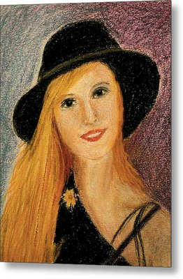 Smiling Young Lady  Metal Print