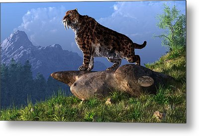 Smilodon Fatalis Metal Print by Daniel Eskridge