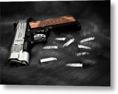Smith And Wesson 1911sc Still Life Metal Print by Tom Mc Nemar