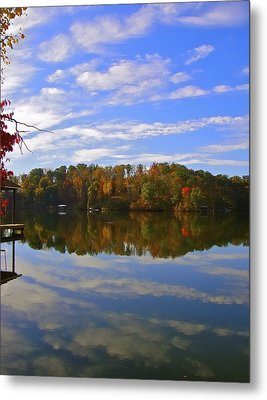 Smith Mt. Lake Reflection Metal Print by Jennifer Lamanca Kaufman