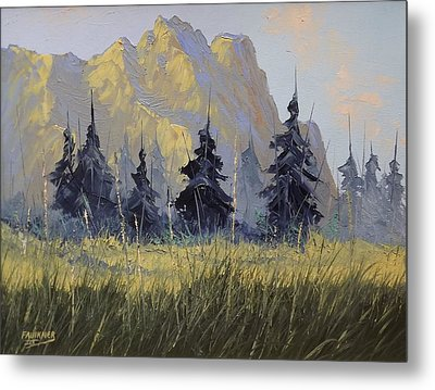 Metal Print featuring the painting Smith Rock Oregon by Richard Faulkner