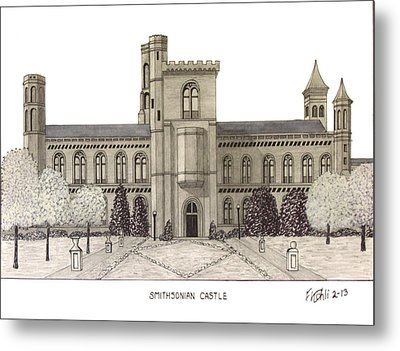 Smithsonian Castle Metal Print by Frederic Kohli