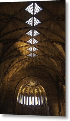 Smithsonian Castle Vaulted Ceiling Metal Print by Lynn Palmer