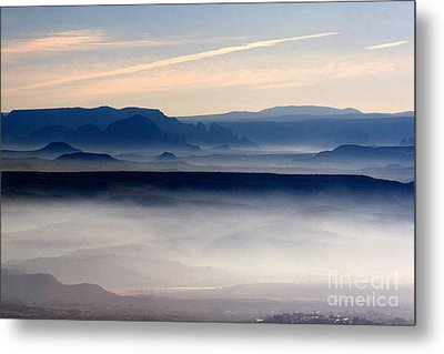Smoke From A Forest Fire As Seen From Jerome Arizona Metal Print by Ron Chilston