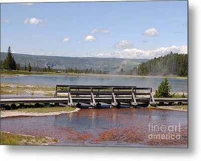 Metal Print featuring the photograph Smoke On The Water by Mary Carol Story