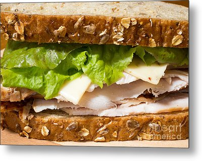 Smoked Turkey Sandwich Metal Print