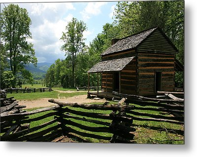 Smoky Mountain Cabin Metal Print