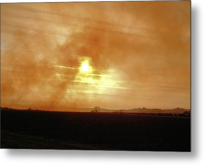 Metal Print featuring the digital art Smokey Sunset by Aliceann Carlton