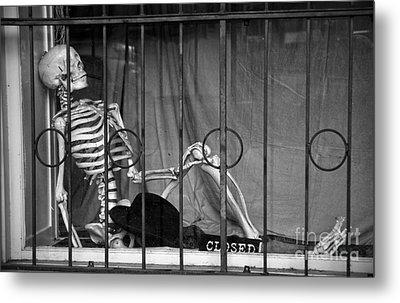 Smoking In The Window Metal Print by RicardMN Photography