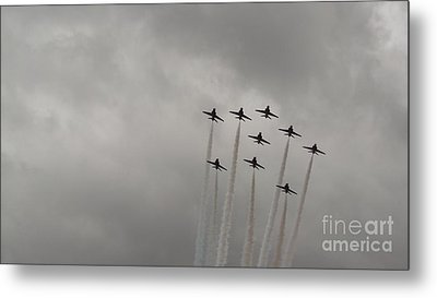 Smoking Planes Metal Print by Tracey Williams