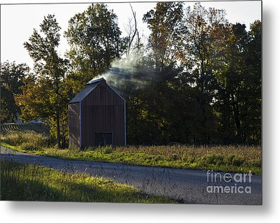 Metal Print featuring the photograph Smoking Tobacco by Amber Kresge