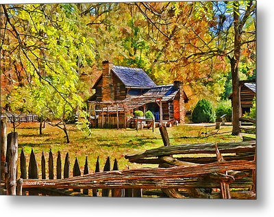 Smoky Mountain Homestead Metal Print by Kenny Francis