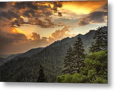 Smoky Mountain Sky Metal Print