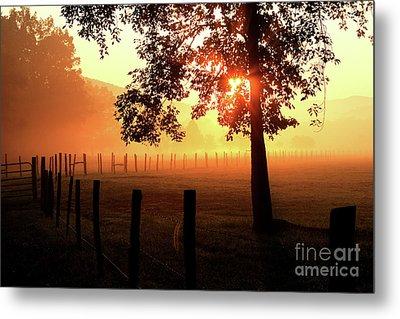 Smoky Mountain Sunrise Metal Print by Douglas Stucky