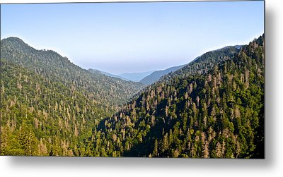 Smoky Mountain View Metal Print by Frozen in Time Fine Art Photography