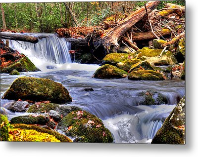 Smoky Mountain Waterfall Metal Print by Craig T Burgwardt