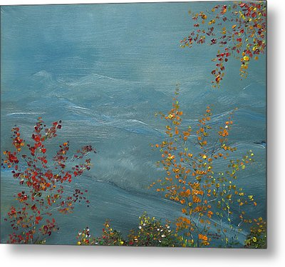 Smoky Mountains In Autumn Metal Print by Judith Rhue