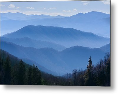 Smoky Mountains Metal Print by Melinda Fawver