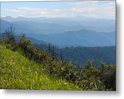 Smoky Mountains View Metal Print by Melinda Fawver