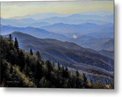 Metal Print featuring the photograph Smoky Vista by Kenny Francis