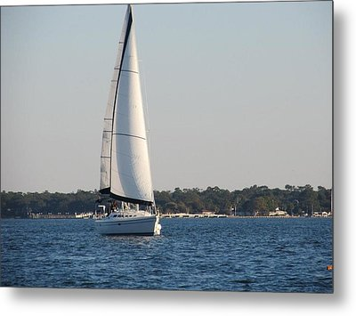 Smooth Sailing Carolina Metal Print by Joetta Beauford