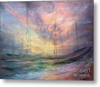 Smooth Sailing Metal Print by Jessie Art