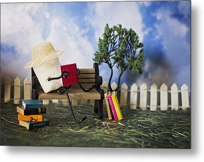 Smore Books Please Metal Print by Heather Applegate