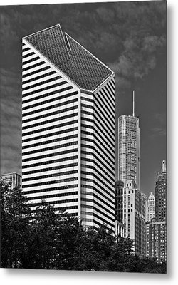 Smurfit-stone Chicago - Now Crain Communications Building Metal Print by Christine Till