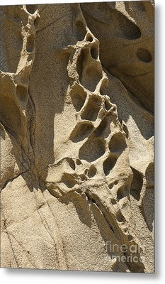 Snadstone Rock Formations In Big Sur Metal Print by Artist and Photographer Laura Wrede