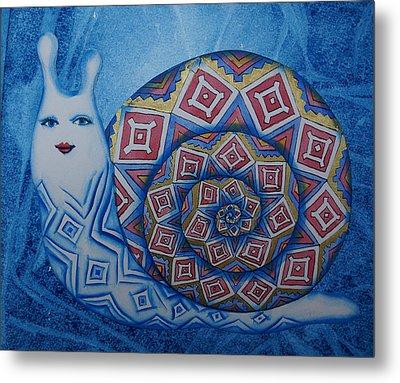 Snail Metal Print by Khromykh Natalia