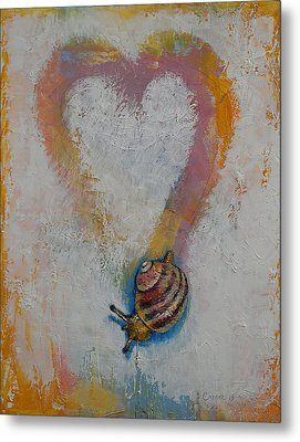 Snail Metal Print by Michael Creese